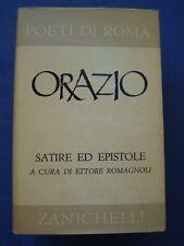 CLASSICI LATINI-POETI DI ROMA-ORAZIO-SATIRE ED EPISTOLE-ZANICHELLI