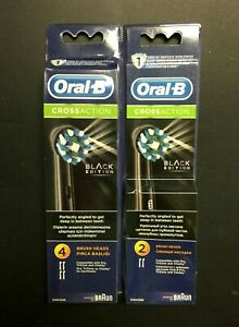 6 Braun Oral B Black Toothbrush Replacement Heads For PRO, TriZone & Vitality