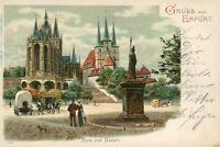 Ansichtskarte Erfurt 1903 Dom und Severi  (Nr.807)