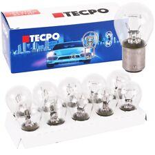 10x TECPO Kugellampe BAY15S 12V 21/5W Bremslicht Standlicht hinten KFZ Autolampe