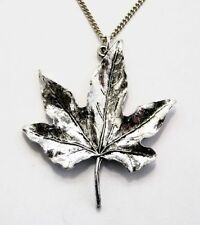 Pewter flower Costume Necklaces & Pendants