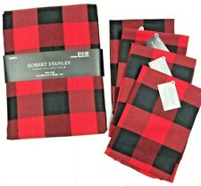 Red and Black Cotton Buffalo Plaid Check Tablecloth/NapkinParty Home Table Decor