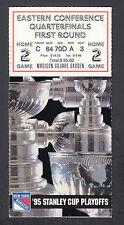 New York Rangers vs Quebec Nordiques 1995 NHL Playoffs Round 1 Ticket Stub