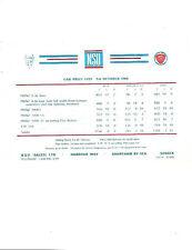 NSU PRINZ 4 DELUXE,1000L,1000LS,1000TT & TYP 110 PRICES'BROCHURE' SHEET OCT.1965