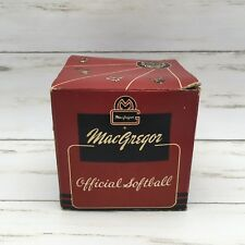 Vintage MacGregor Official Softball Dyna Flight Box B38 12in Kapok Long Fibre
