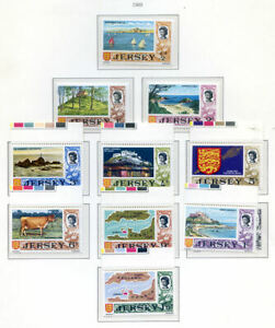 Jersey 1969 Definitives to 1972 Silver Wedding complete n.h. mint(2020/02/10#03)