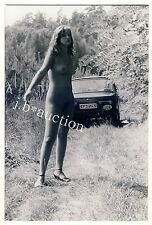 GDR NUDISM NUDE WOMAN WARTBURG CAR AUTO NACKTE FRAU DDR FKK * Vintage 60s Photo