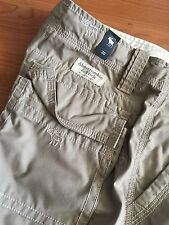 Abercrombie & Fitch A&F New York Lightweight Cargo Shorts Moose Print Sz 30 NWT