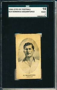 1936 Leyes del Football Herminio Masantonio ROOKIE! Rarely seen! SGC = PSA 1