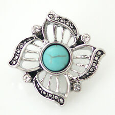 Fits Ginger Snaps Turquoise Snap Stone Interchangeable Button Jewelry 18mm