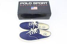 Polo Sport Ralph Lauren Womens Harpoon Blue Canvas Mule Shoes w Box US 10 EUR 41