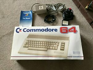 Commodore 64 computer, Original Box, Includes Manual, Joystick & connections
