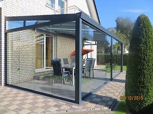 Kalter Wintergarten Alu-Terrassendach- Gartenzimmer mit Verglasung 4x3 m