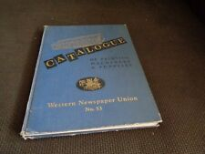 Vintage Catalog Printing Machinery and Supplies Type Faces Typography