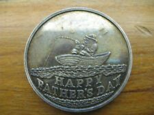 Vintage Fisherman Birthday 1oz 999 Silver Round - Nicely Toned