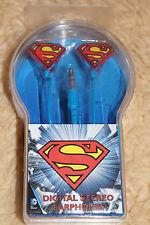 NEU PRIMARK SUPERMAN SUPERHERO IN EAR KOPFHÖRER EARPHONES BLAU UNIVERSAL NEU