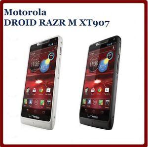 "Unlocked Motorola DROID RAZR M XT907 4.3"" Original Mobile Phone 8GB ROM 8MP GPS"