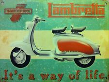 Lambretta Scooter, It's a way of Life, Classic/Vintage Mod Medium Metal/Tin Sign