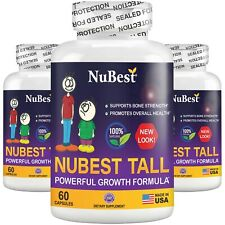 Pack of 3 - NuBest Tall Healthy Growth Supplement For Children (5+) & Teens