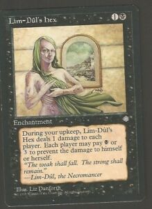 LIM DUL'S HEX Magic The Gathering Old School near mint  NUOVA MTG #10B