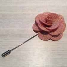 Mens Cloth Lapel Pin Flower - Blazer - Wedding Boutonniere Gift - 12 Colours NEW