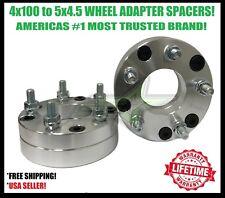 2x 4x100 To 5x4.5 Wheel Spacer Adapters   2 Inch 12x1.5 Studs 4 Lug to 5 Lug