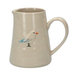 Gisela Graham Small Mini Rustic Milk / Cream Jug Vase - Seagull Design