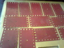 Part 191 - 9x5 flexible plate burgundy red as per picture 12 pieces