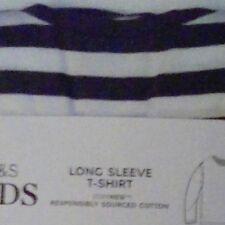 M&S Kids Boys staynew long sleeved t-shirt top 100% cotton age 2-3 years bnip