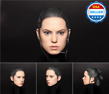 CUSTOM 1/6 scale Daisy Ridley Star Wars Rey Head Sculpt For Hot Toys Phicen
