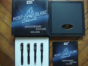Montblanc 100 Years Historical Lim Edi Fountain Ball Roller Pencil New 4 Pens
