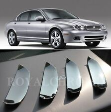 US STOCK X-TYPE X4 Bright CHROME Door Handle Cup Bucket Covers for JAGUAR X Type
