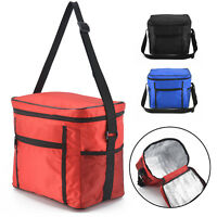 Large Portable Cool Bag Insulated Thermal Cooler For Food Drink Lunch Picnic UK