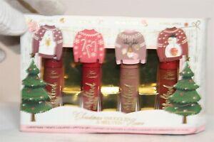 Too Faced NEW Christmas Treats Liquified Lipstick Set USA Made 4 x 0.1 fl oz
