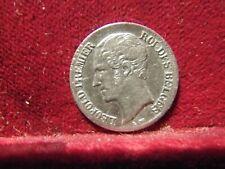 """Monnaies Belgique Léopold I 20 centimes 1853 L W sans point """"Qualité"""""""