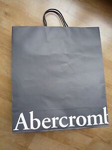 Abercrombie & Fitch Paper Bag Carry Shopping A&F Gift Bag