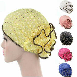 Flowers Hat Women Bonnet Turban Muslim Hair Loss Chemo Cap Hijab Head Scarf Wrap