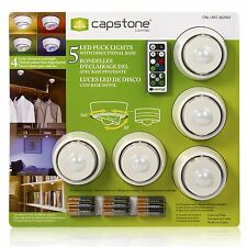 6 LED Puck luci, telecomando & Batterie Wireless Armadio Caravan Capanno ecc.