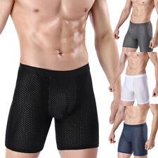 Men Sports Underpants Mesh Shorts Ice Silk Briefs Boxer Comfortable Underwear