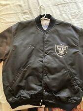 Vintage Pro Line By Starter NFL Oakland Raiders  Bomber Jacket Men Sz XL Extra