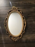 "Vintage Mid Century Syroco Gold Ornate Wall Mirror  28"" X 17"""
