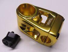 Bicycle Stem Box Two  1 1/8 inch x 53 mm  x 22.2 mm Gold BMX