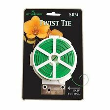 Hydrofarm Twist Tie 50m/164ft Ideal For Tying Vegetables/Plant/Flower Hydroponic