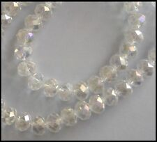 10mm x 8mm Rondelle AB CLEAR 30 oval beads A-Grade Crystal faceted Suncatcher