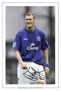 DUNCAN FERGUSON Signed Autograph PHOTO Signature Fan Gift Print EVERTON Soccer