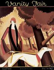 NYer art deco fashion greyhound dog Bobritsky autumn art poster print SKU1159