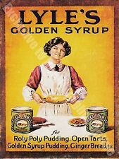 Vintage Food 84, Lyle's Golden Syrup Cafe Kitchen Old Shop, Small Metal/Tin Sign
