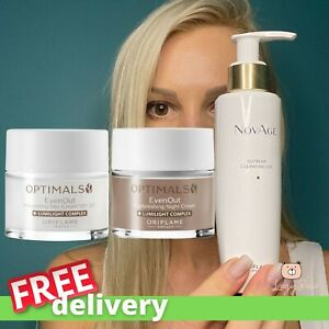 Oriflame LOT NovAge Supreme Cleansing Gel & optimals EvenOUT day & Night Cream