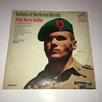 Ballads of The Green Berets Barry Sadler Vinyl Album (1966) Vintage 33 RPM