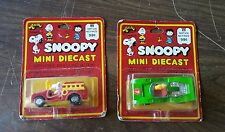 Vintage Snoopy Peanuts Aviva - Snoopy and Woodstock Firetruck Race Car - MoC